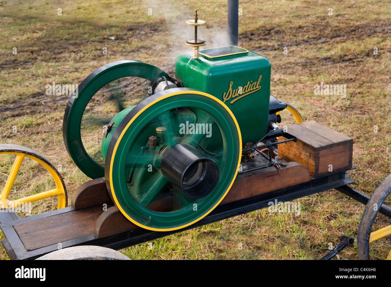 sundial stationary petrol engine power powered - Stock Image