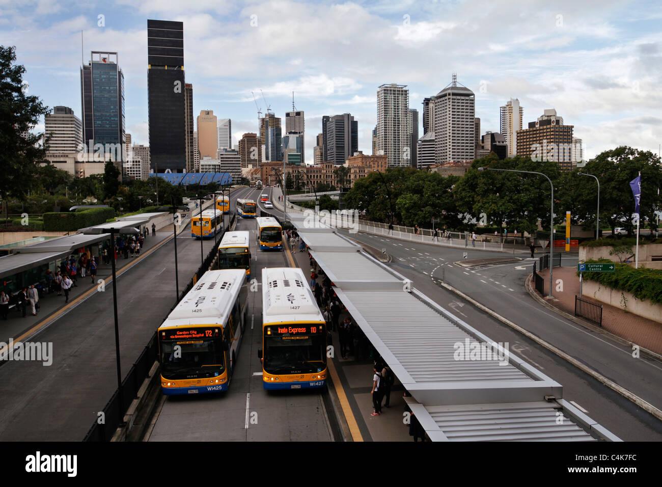 Brisbane city skyline at dusk - Australia. - Stock Image