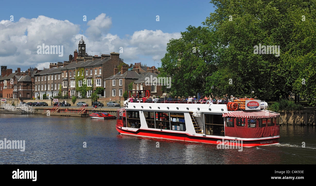 Cruising on the River Ouse, York, Yorkshire, England - Stock Image
