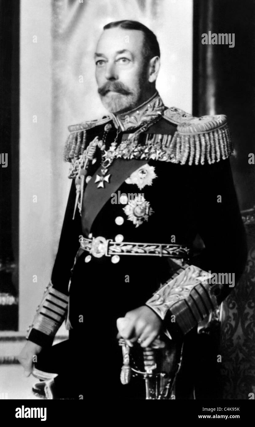 KING GEORGE V ROYAL FAMILY 01 May 1923 - Stock Image
