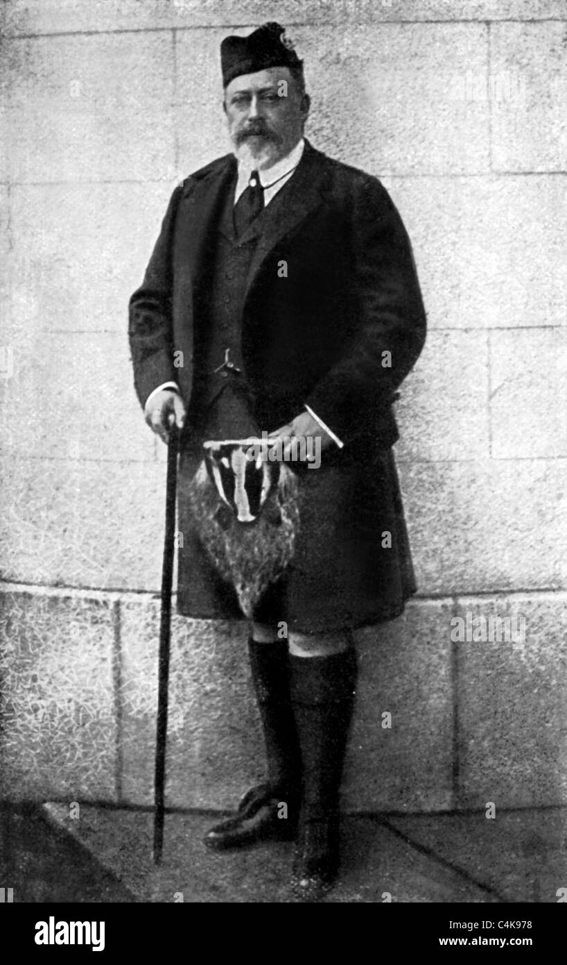 KING EDWARD VII KING OF ENGLAND 1901 - 1910 R 01 May 1902 - Stock Image