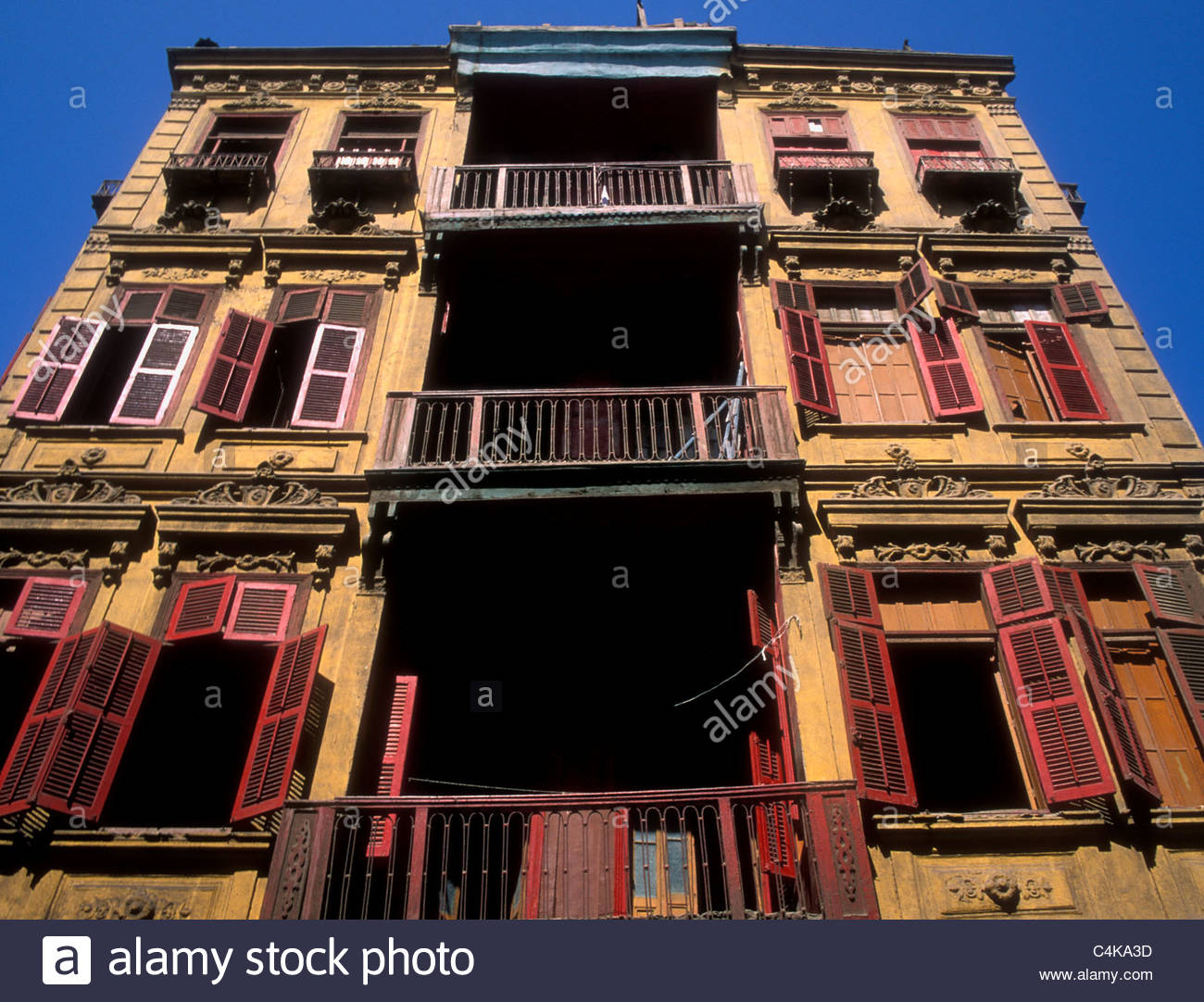 Ottoman residential architecture in Cairo Egypt - Stock Image