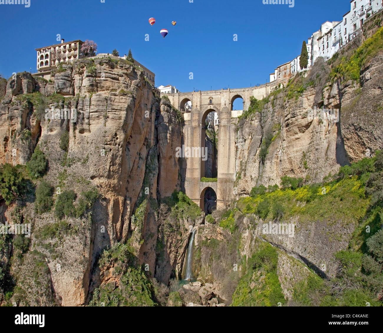 ES - ANDALUSIA: Puente Nuevo at Ronda - Stock Image