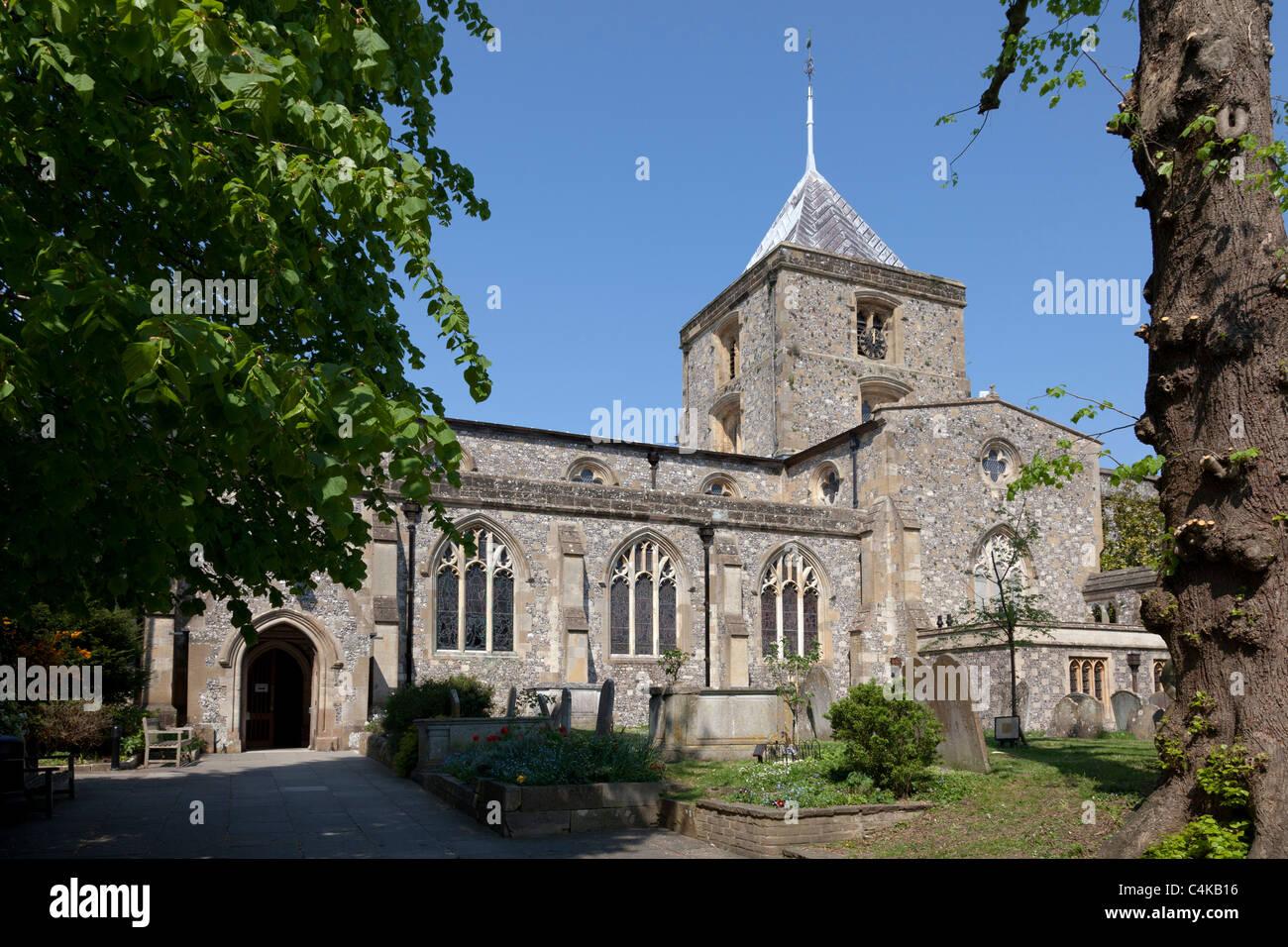 Parish and Priory Church of Saint Nicholas, Arundel - Stock Image
