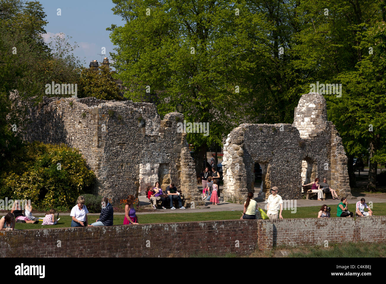 the ruin of Blackfriars Dominican Priory - Stock Image