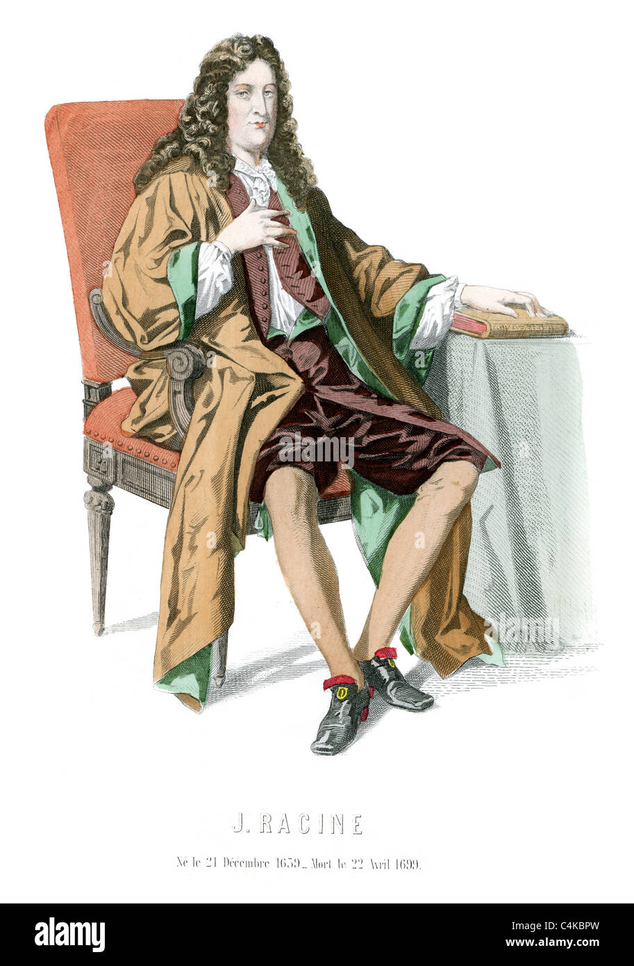 Jean Racine 22 December 1639 to 21 April 1699 a French dramatist and one of the most important literary figures - Stock Image
