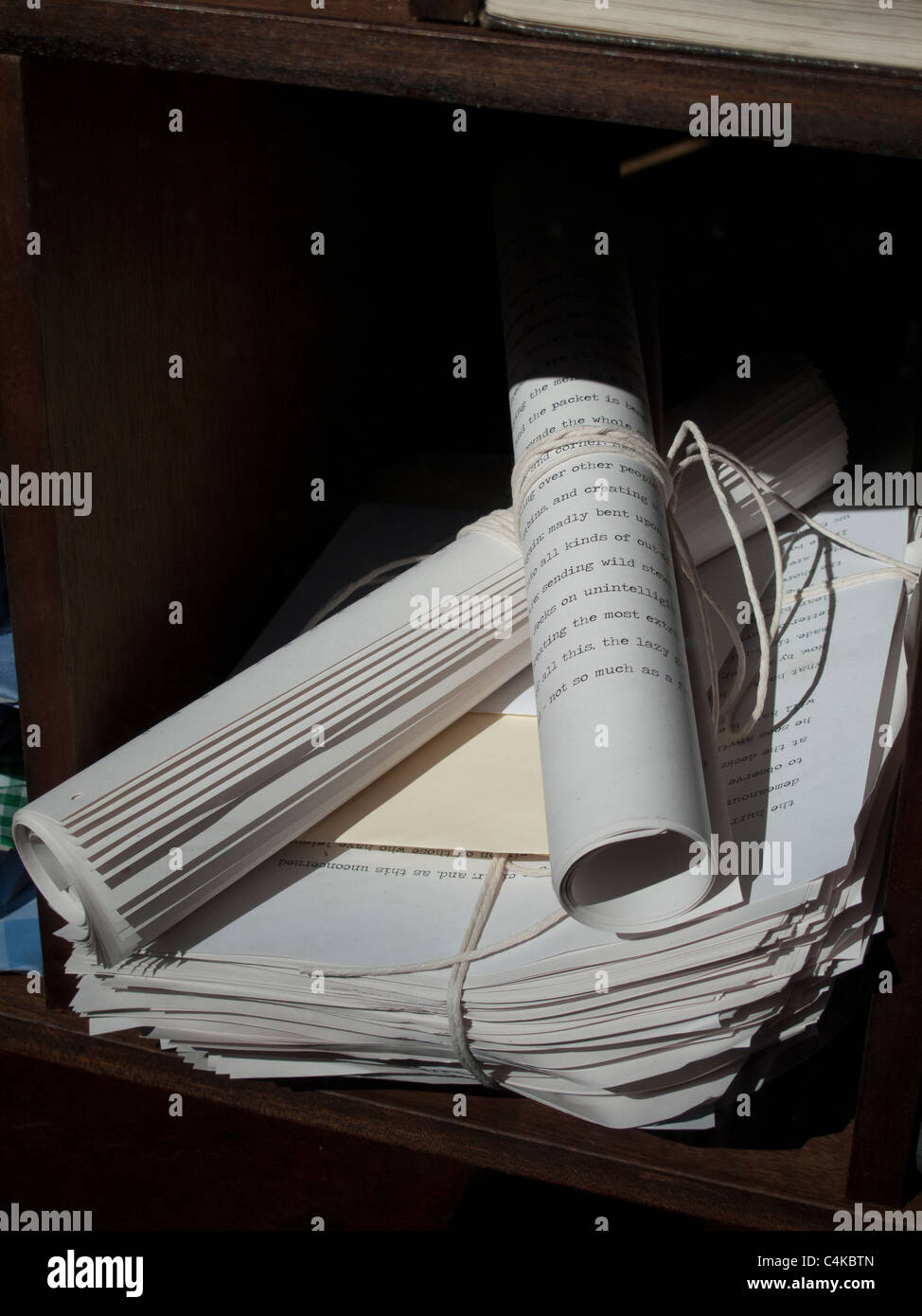Filed papers - Stock Image