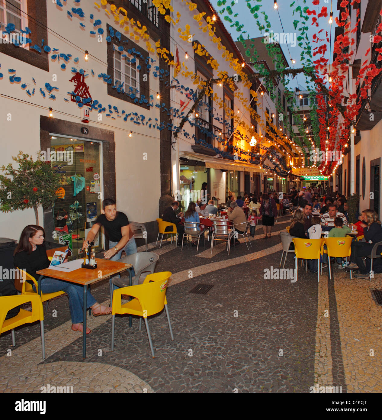 Old Town Funchal, Madeira. - Stock Image
