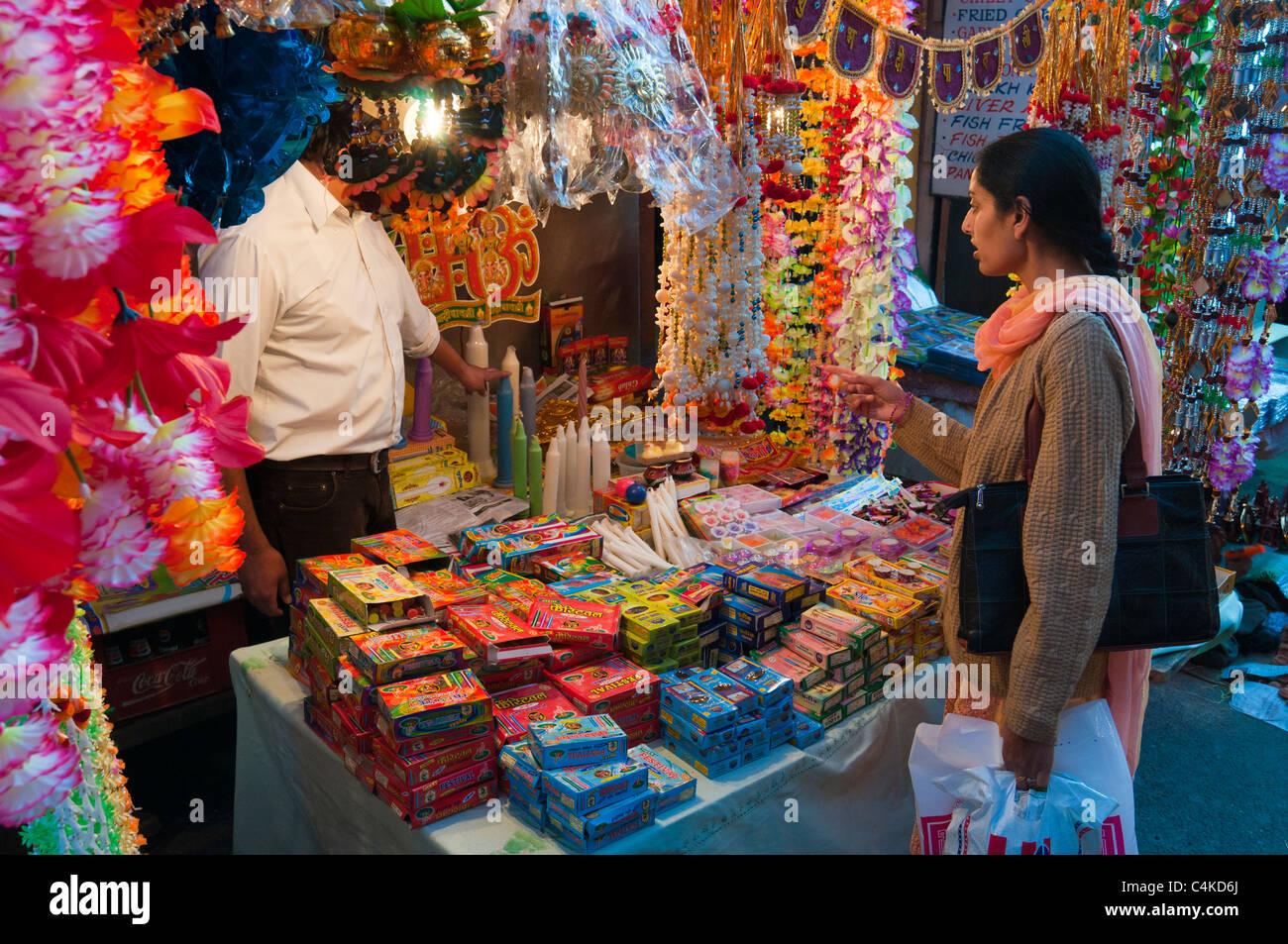 Night scene of Street in Shimla. Himachal Pradesh. India. - Stock Image