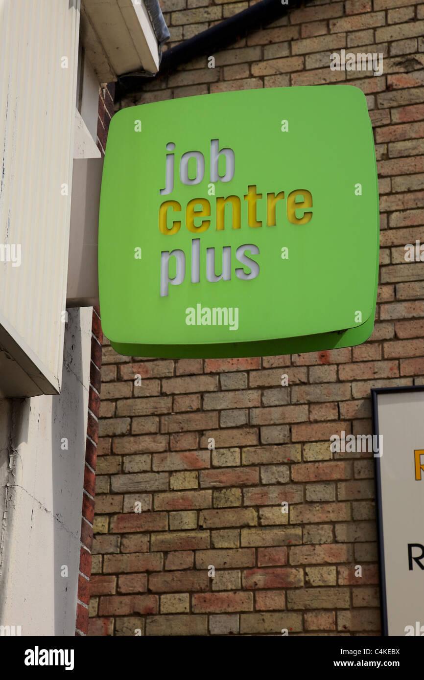 Job centre in Biggleswade, England - Stock Image