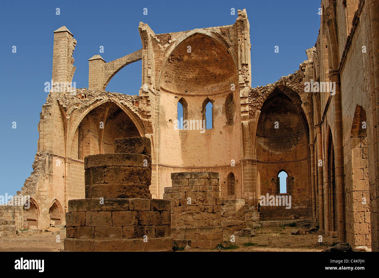 Ruins of St Georges Church Magosa Northern Cyprus - Stock Image