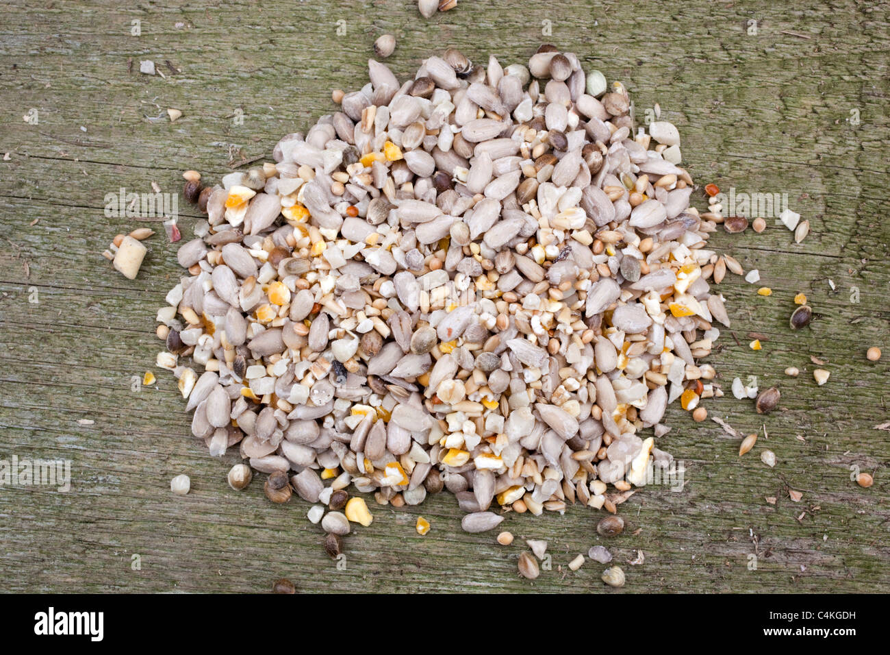 Bird seed; sunflower; corn etc; - Stock Image
