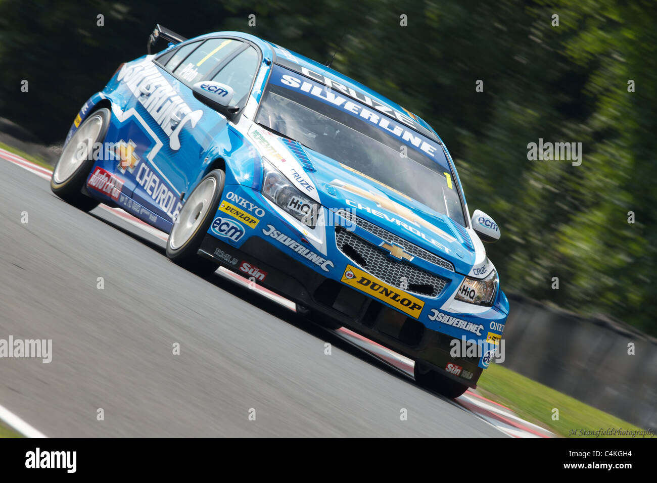 Jason Plato at oulton park - Stock Image