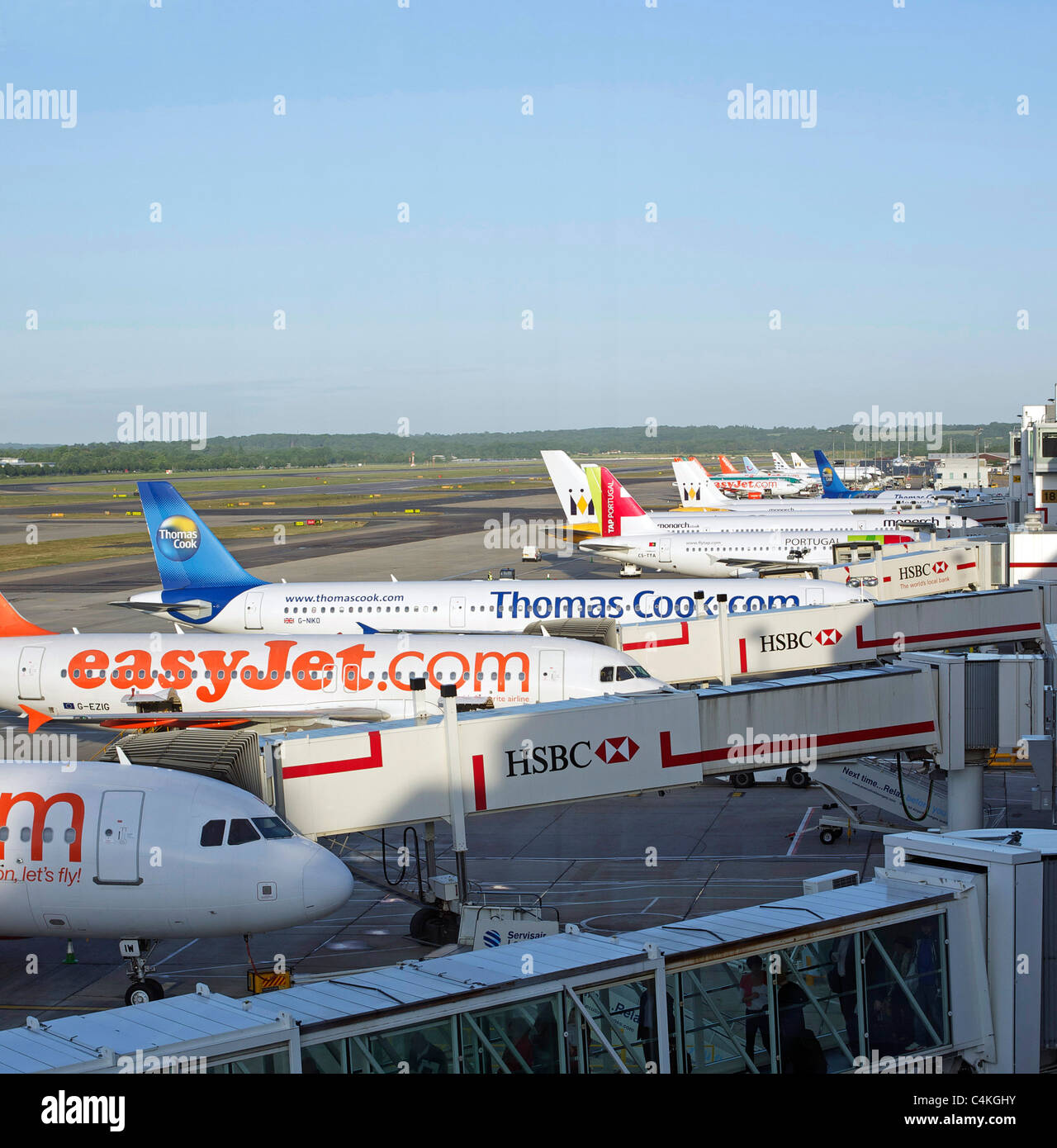 Jets at Gatwick - Stock Image