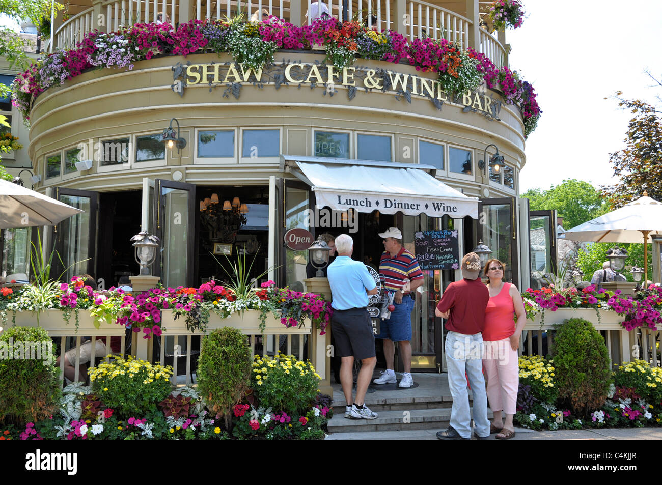 Niagara on the Lake, Shaw Cafe and Wine Bar - Stock Image