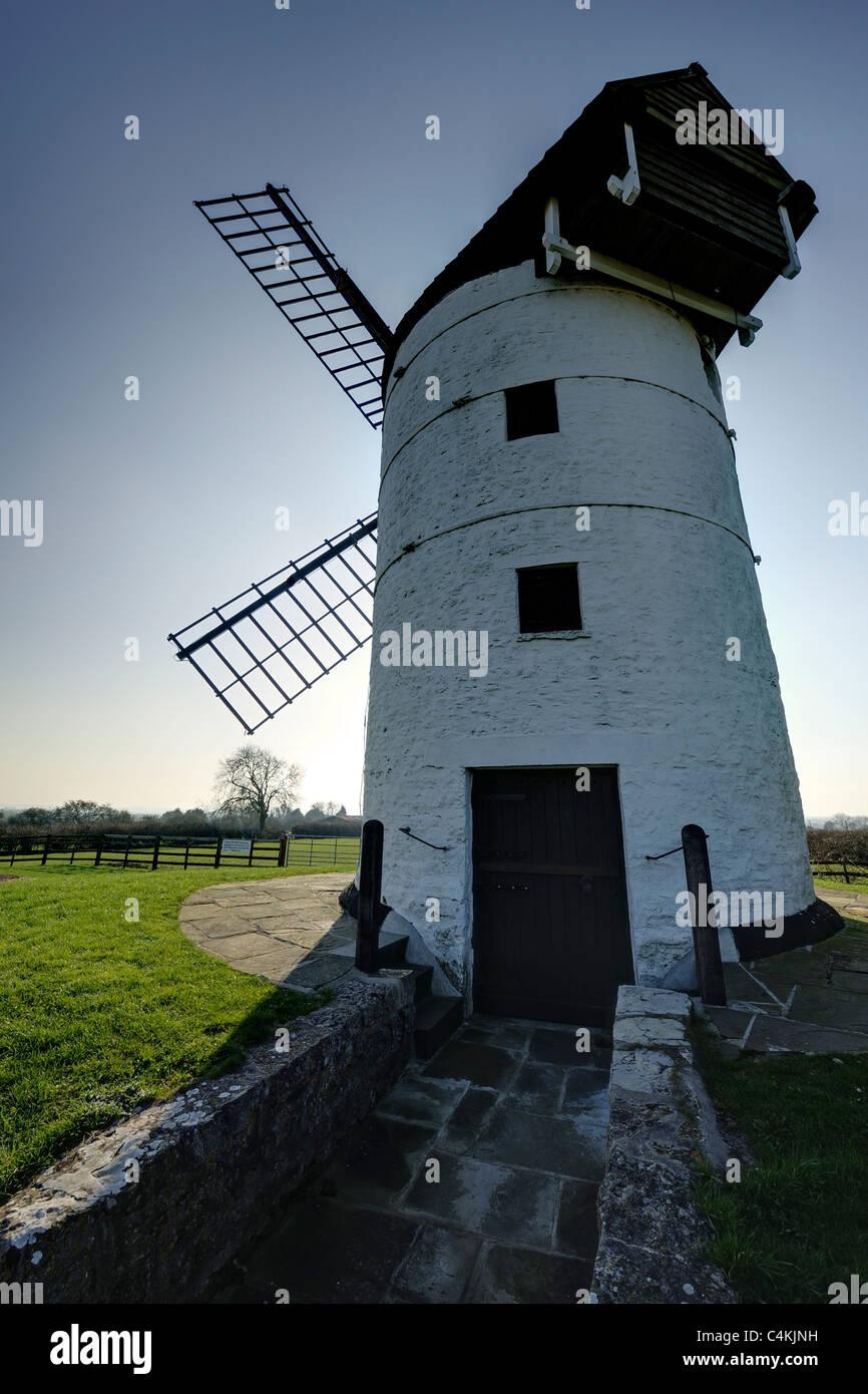 Ashton Windmill near Chapel Allerton, Somerset, UK. - Stock Image