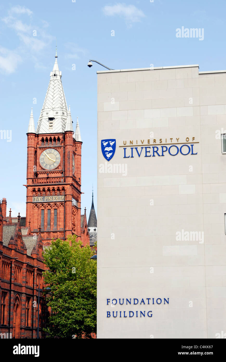 University of Liverpool, Brownlow Hill. - Stock Image