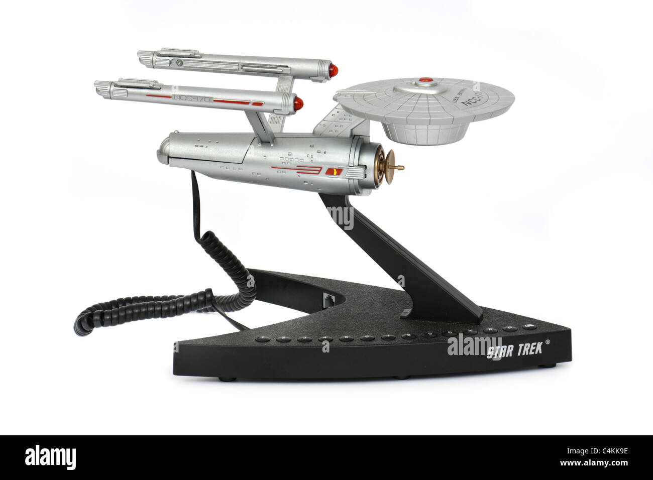 Vintage Star Trek U.S.S. Enterprise NCC-1701 Starship novelty telephone - Stock Image