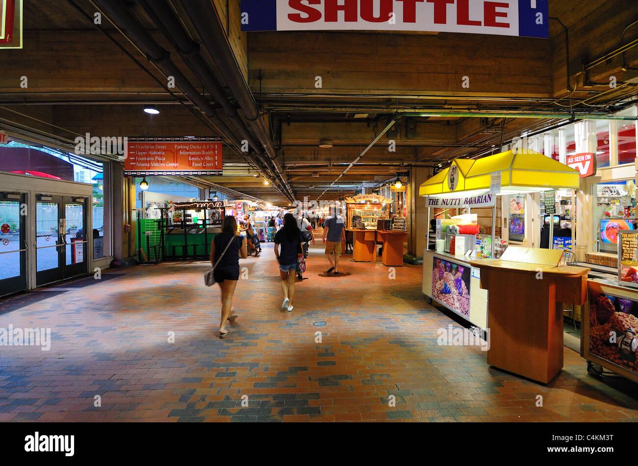 Shops and arcade at Underground in Atlanta, Georgia. - Stock Image