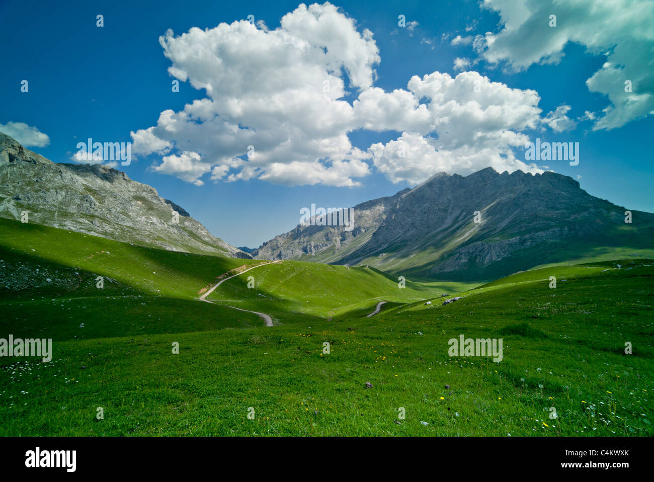Walking country: The Picos de Europa, Cantabria, Northern Spain - Stock Image