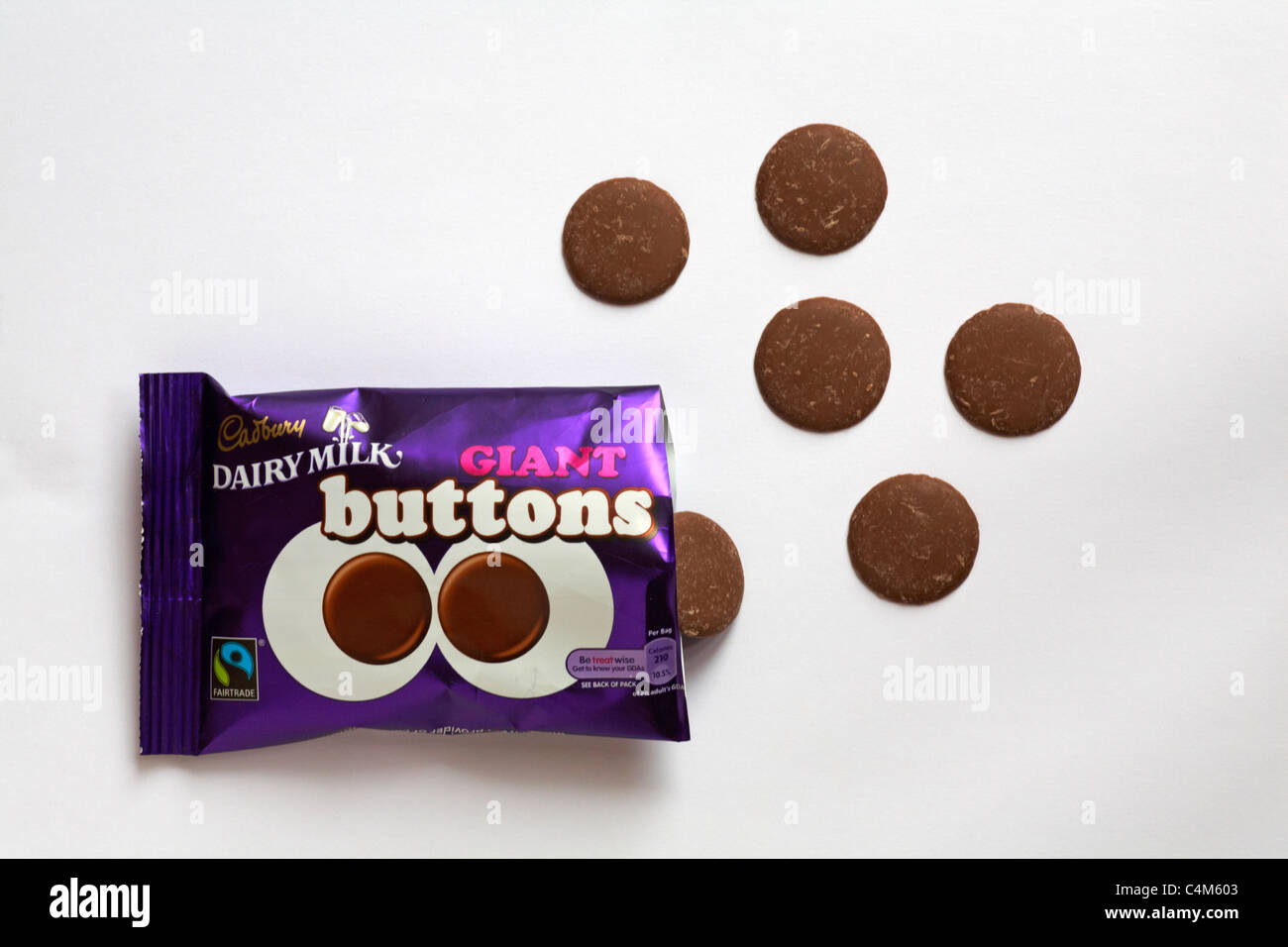 Packet Of Opened Cadbury Dairy Milk Giant Buttons With