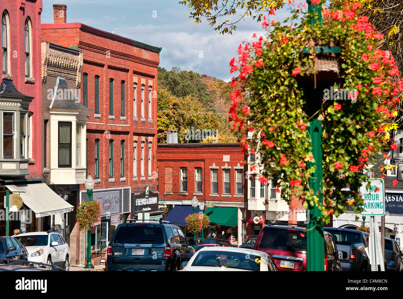 Downtown, Camden, Maine, ME, USA - Stock Image
