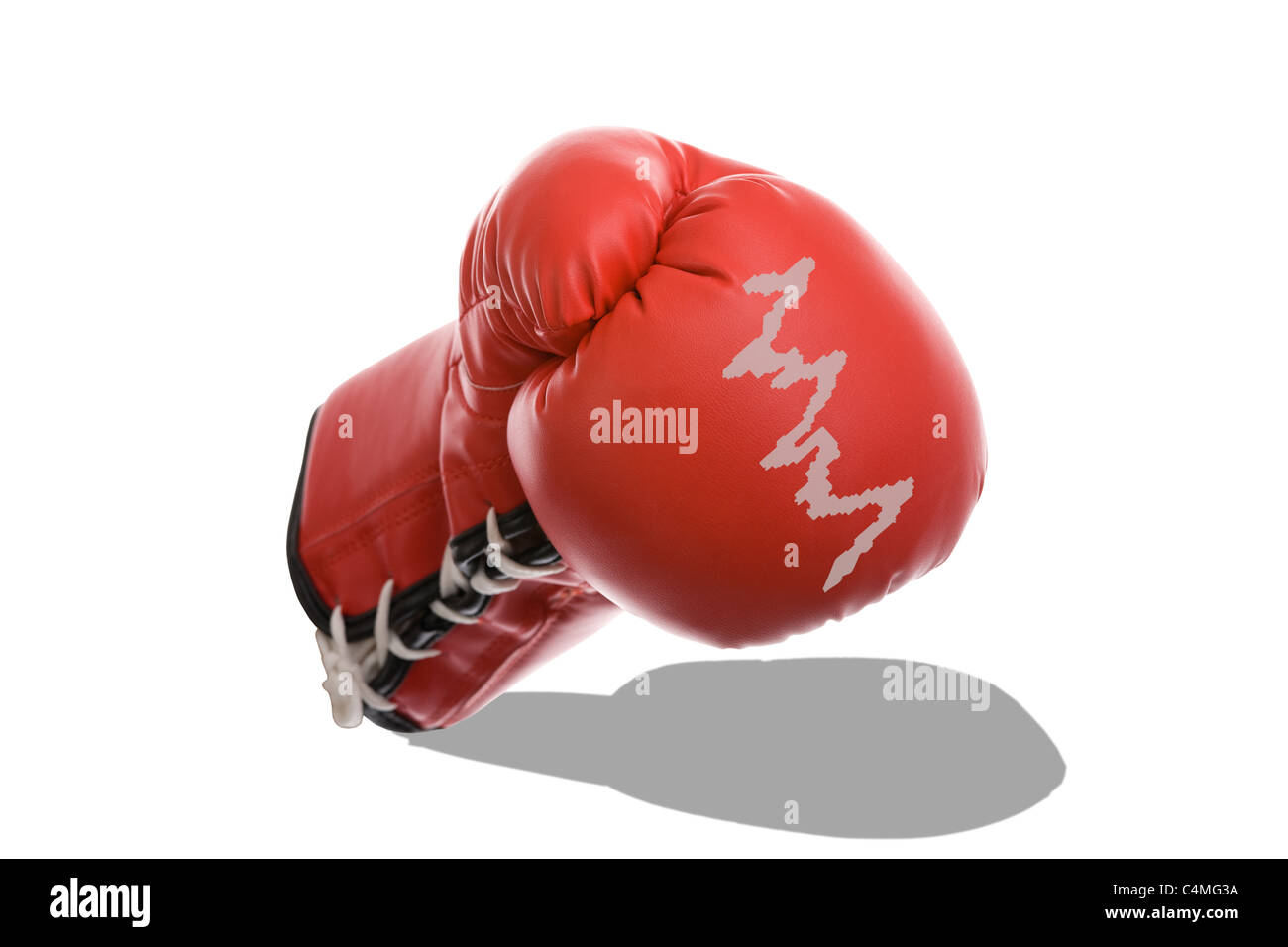 Boxing Gloves as a Symbol of Financial Crisis - Stock Image