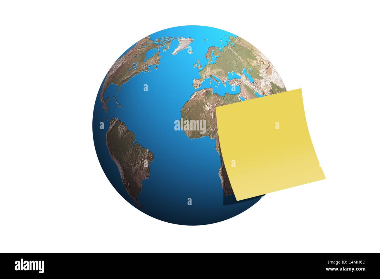 Earth World Globe Sphere - Stock Image