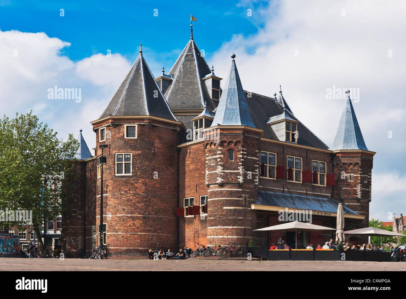 De Waag, historische Stadtwaage, Amsterdam | De Waag, old city scales, Amsterdam - Stock Image