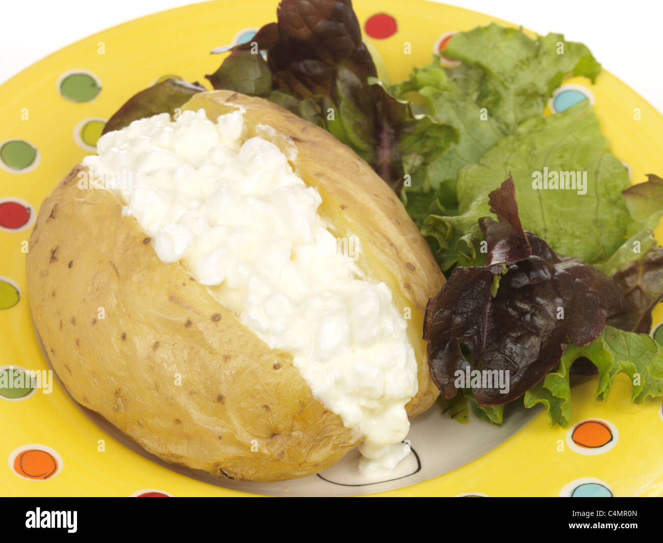 Awesome Jacket Potato With Cottage Cheese Stock Photo 37336453 Alamy Interior Design Ideas Gentotryabchikinfo