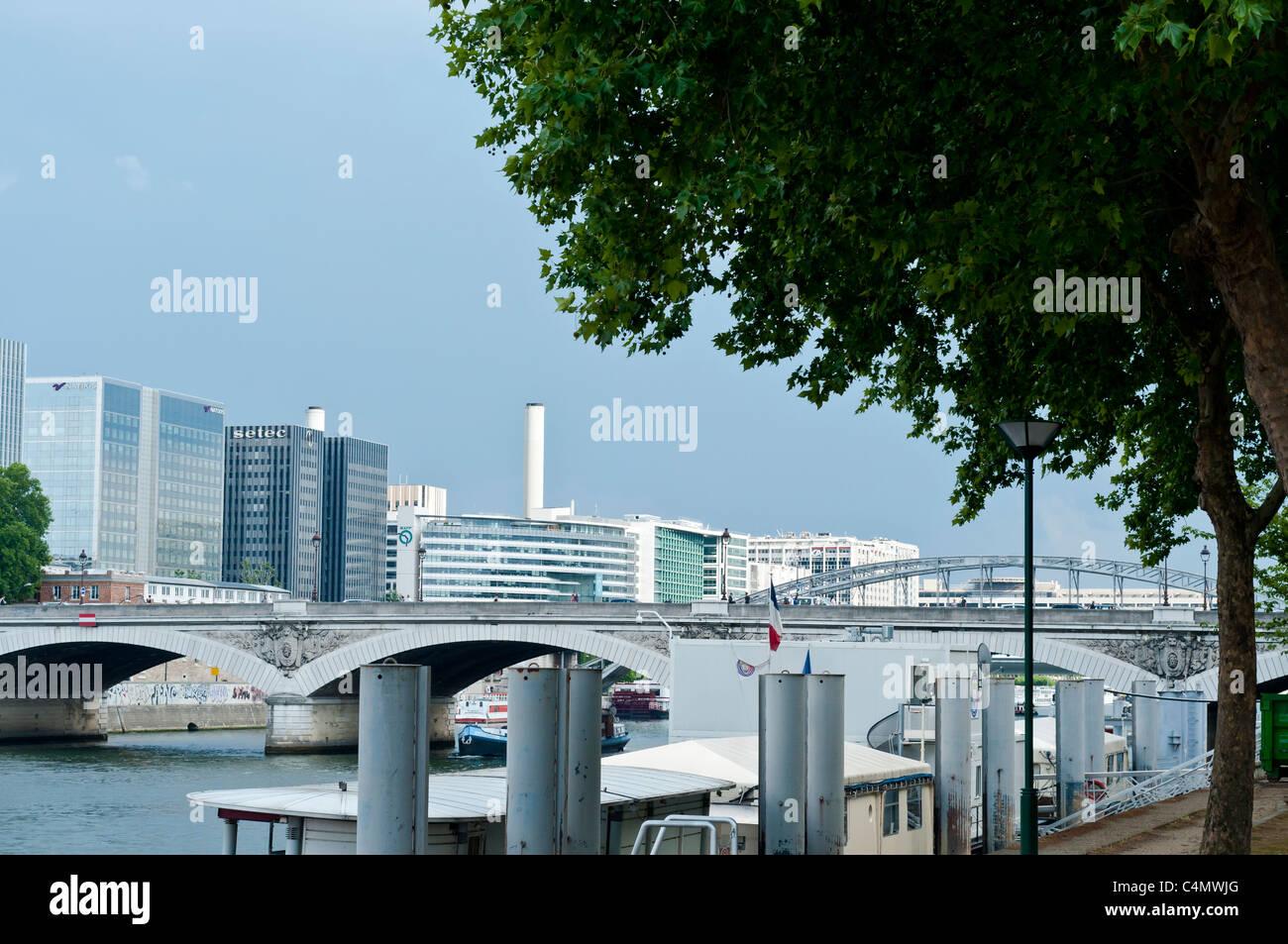 Paris Bercy, Business neighborhood, Paris, France. - Stock Image