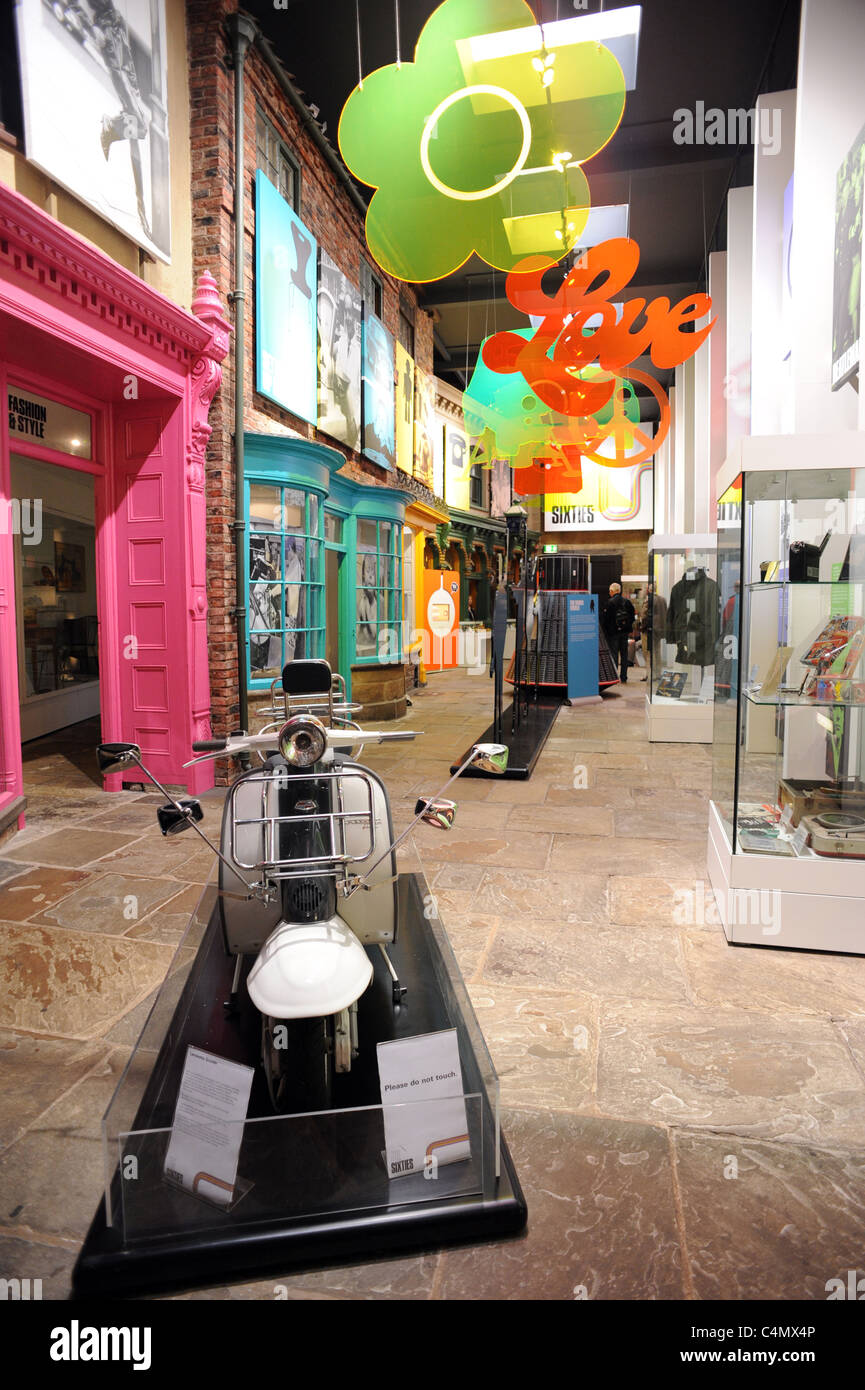 Part of the Sixties exhibition inside York Castle Museum - Stock Image