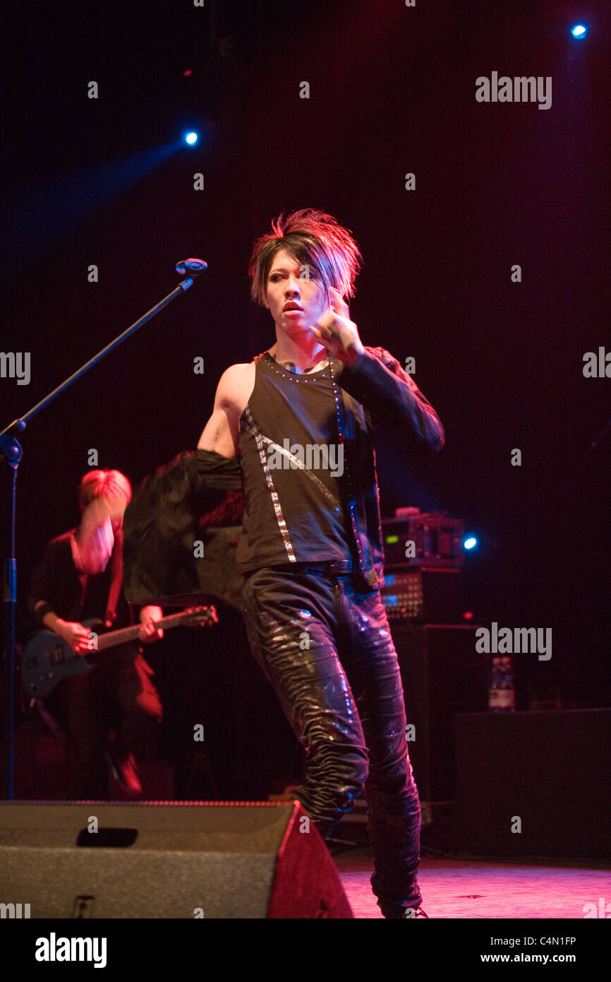Japanese Singer Miyavi Perform On The Concert In Budapest Hungary