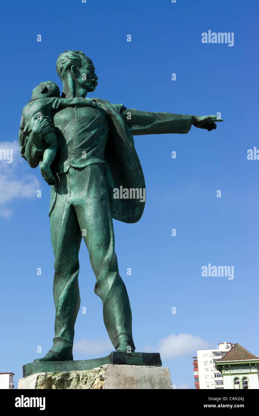 Statue of José Martí in the Anti-Imperialist Plaza, Havana, Cuba. - Stock Image
