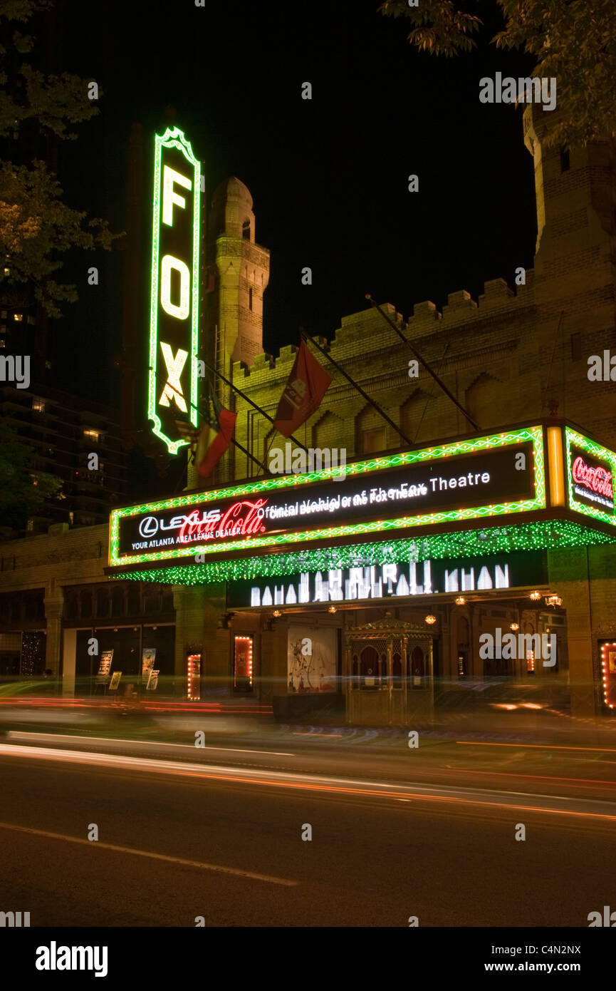 The Fox Theater near downtown Atlanta, Georgia, USA - Stock Image