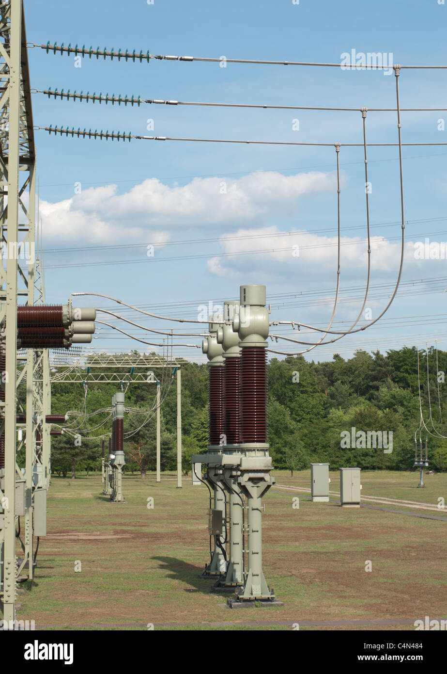 Electric Power Transformation Station - Stock Image