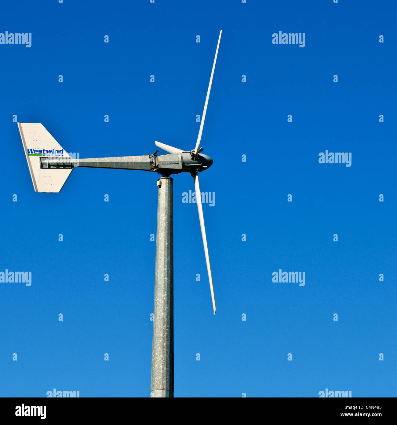 Wind Turbine Sign Stock Photos & Wind Turbine Sign Stock