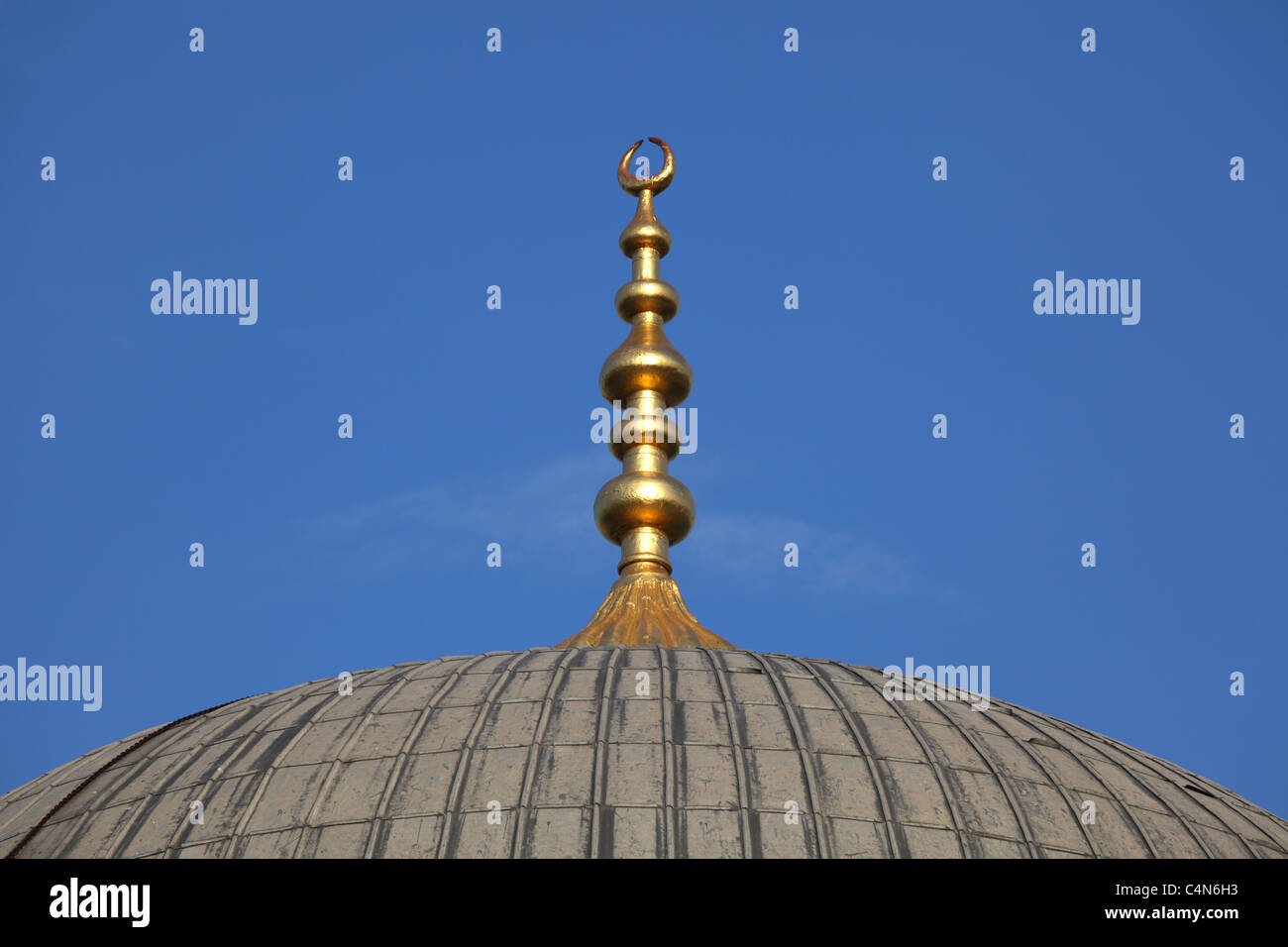 Cupola of a mosque in Istanbul, Turkey - Stock Image