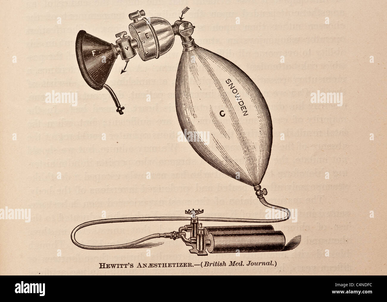 Antique Illustration of Surgical Tools and Medical Apparatus - Stock Image