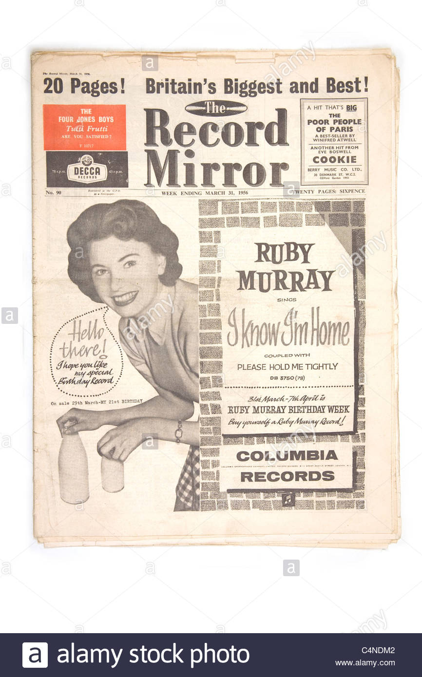 Record Mirror, March 31st 1956 - Stock Image