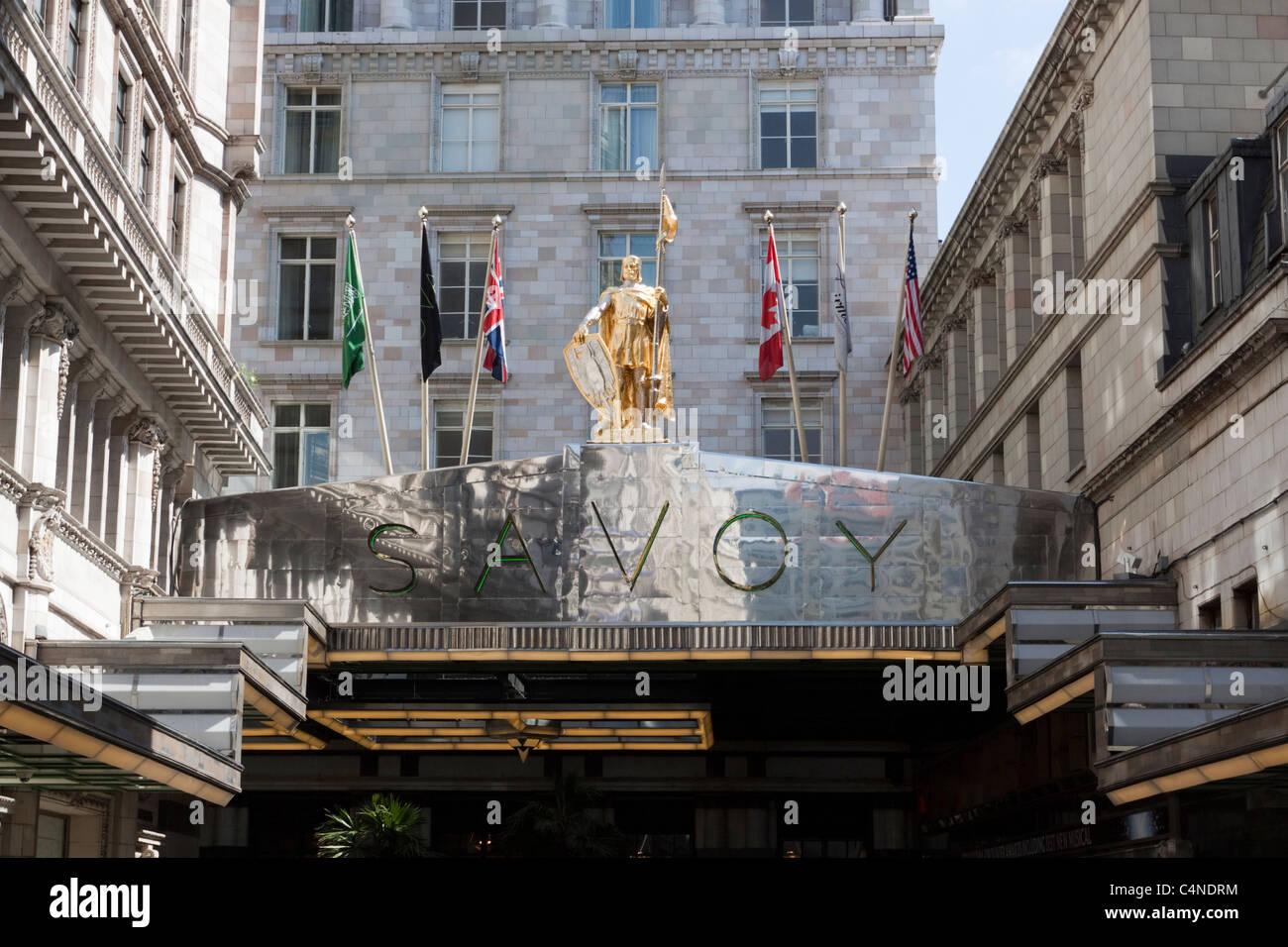 The Savoy hotel, the Strand, London, England - Stock Image