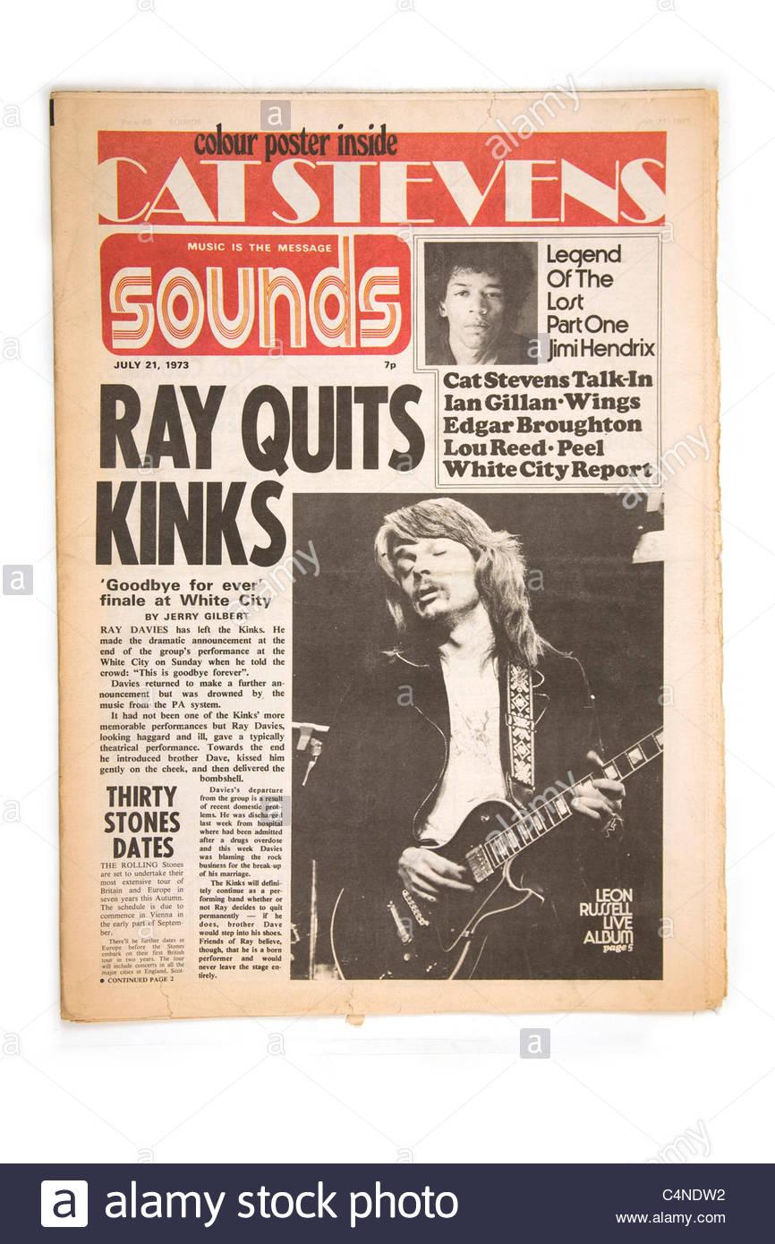 Sounds July 21st 1973 - Stock Image