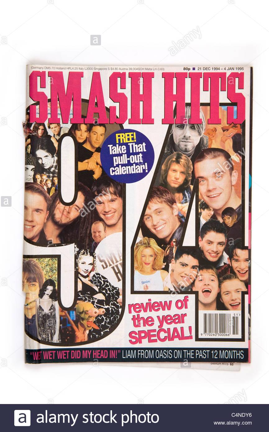 Smash Hits magazine 21st December 1994- 4th January1995 - Stock Image
