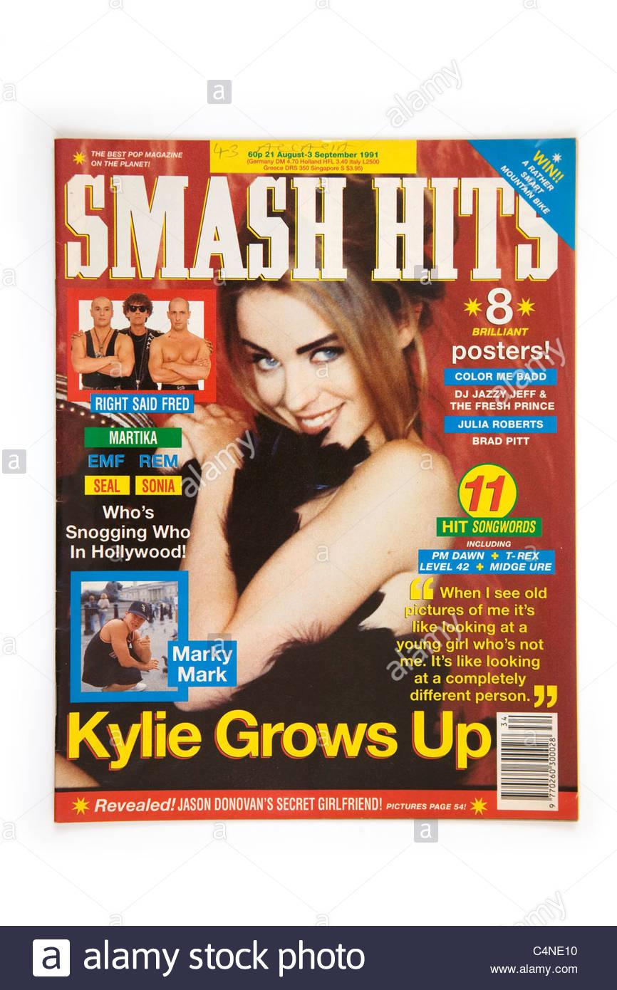 Smash Hits magazine 21st August -3rd September 1991 - Stock Image