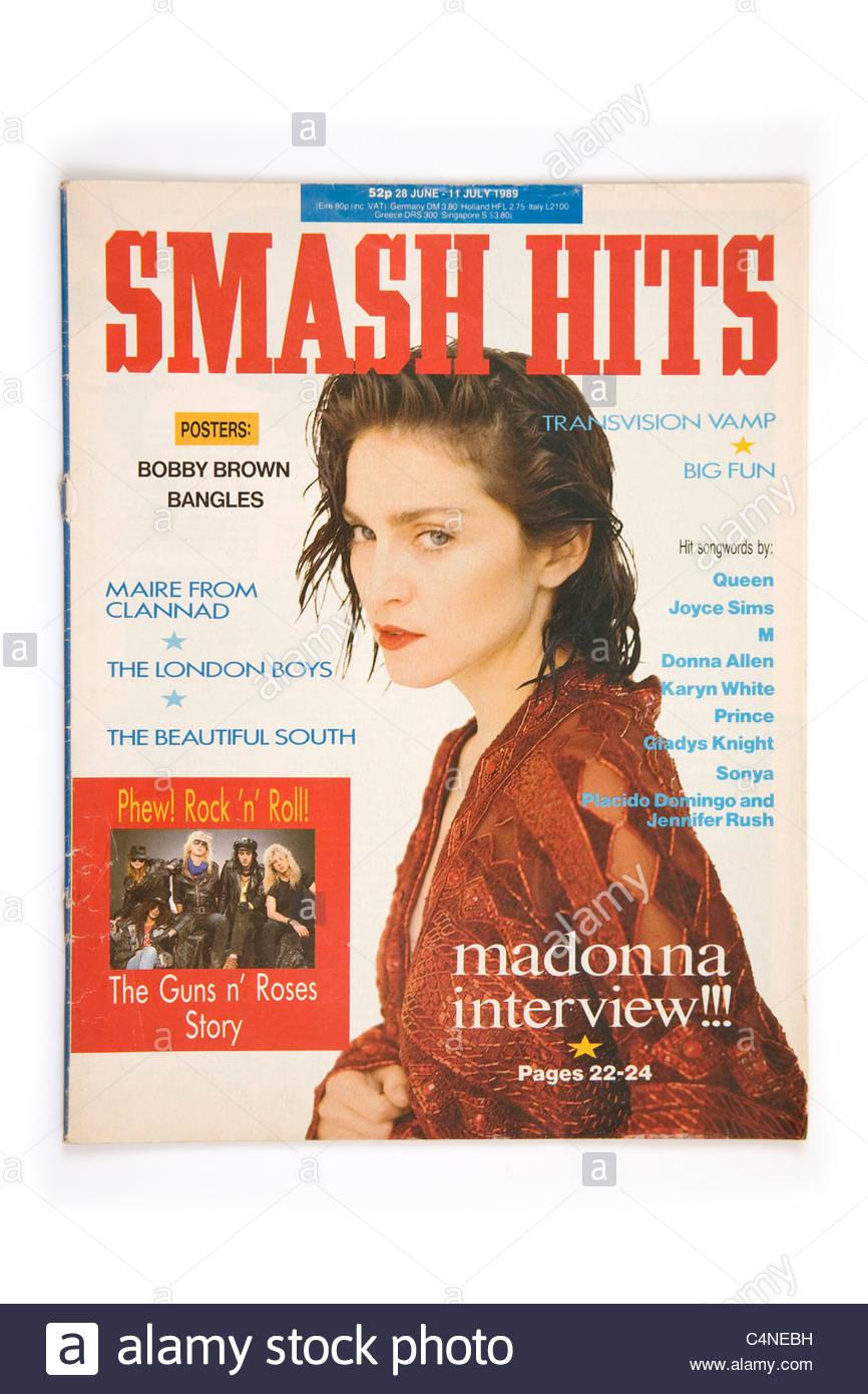Smash Hits magazine June 1989 featuring Madonna - Stock Image