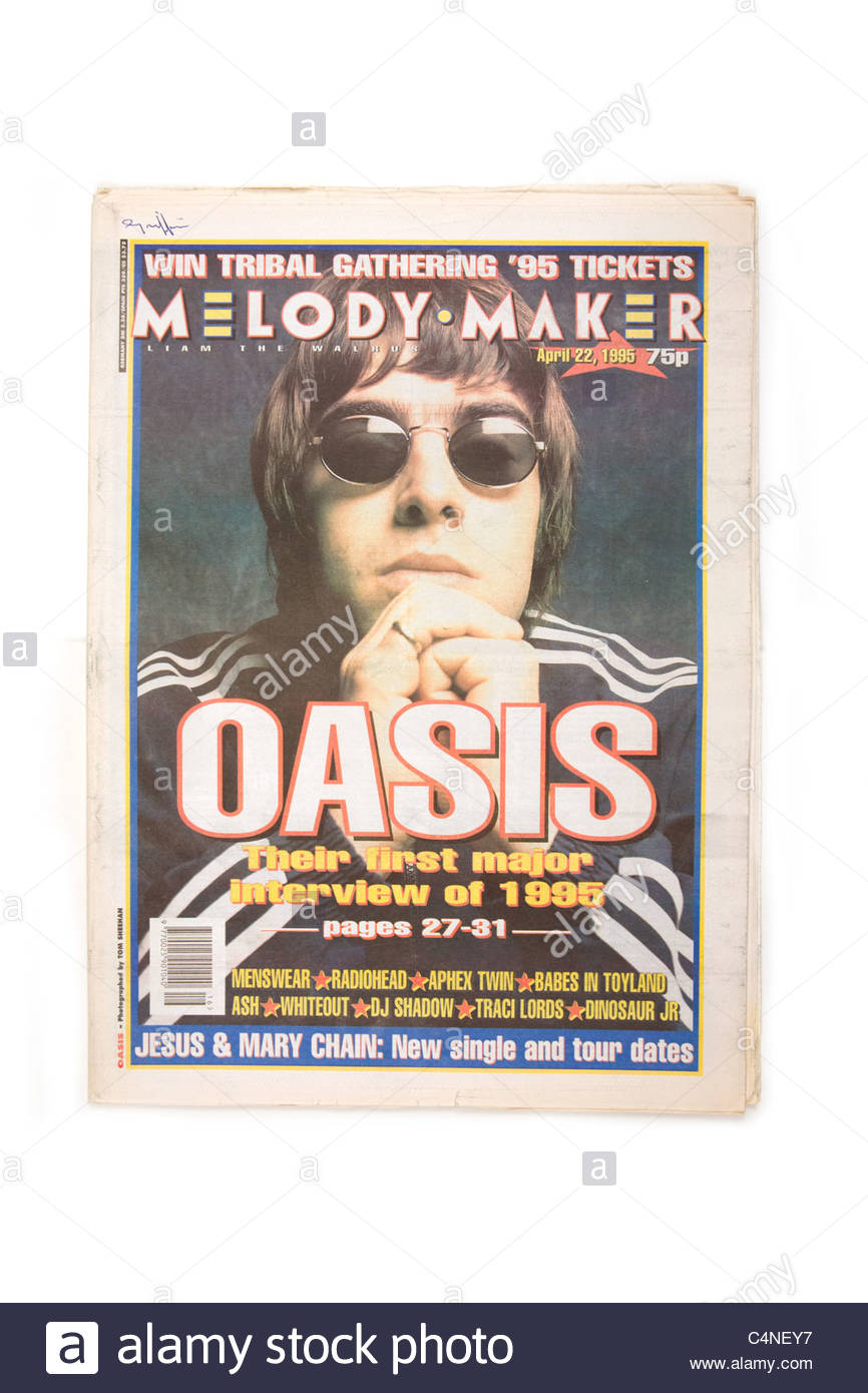 Melody Maker weekly music paper April 22 1995 - Stock Image