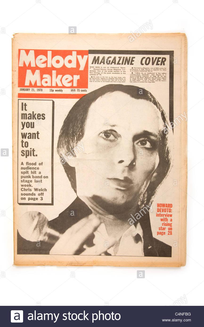 Melody Maker music newspaper January 21st 1978. - Stock Image