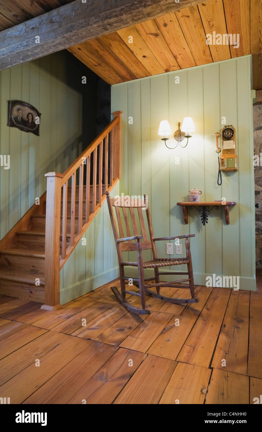 Admirable Rocking Chair Next To Staircase In 18Th Century Cottage Onthecornerstone Fun Painted Chair Ideas Images Onthecornerstoneorg