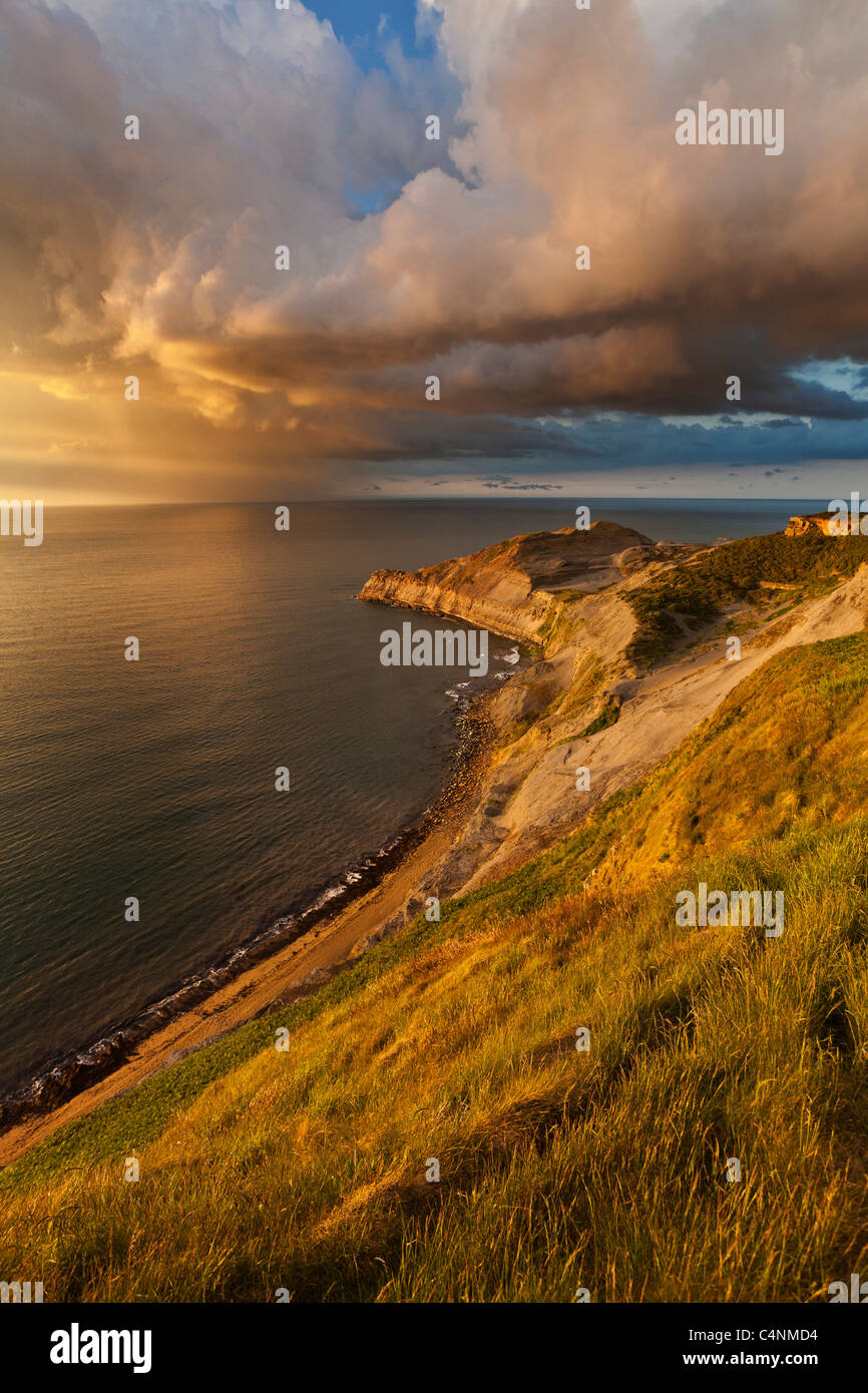 After the storm, Kettleness, North Yorkshire Coast - Stock Image