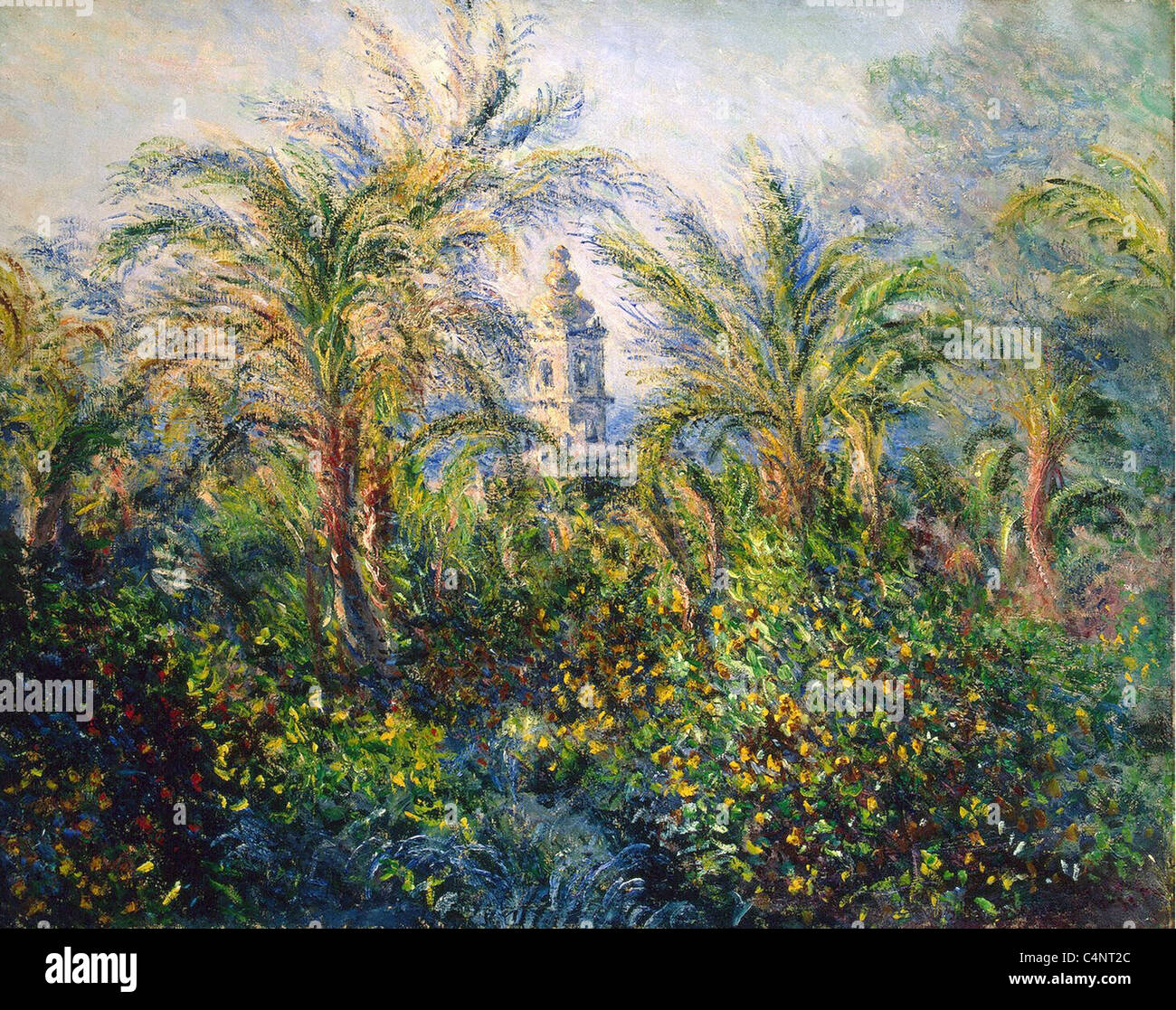 Claude Monet Garden in Bordighera, Impression of Morning French school 1884 State Hermitage Museum, St. Petersburg, - Stock Image